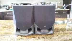 Two jvc speakers