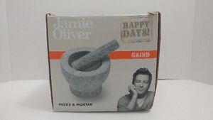 Jamie Oliver Mortar and Pestle Unpolished Granite New
