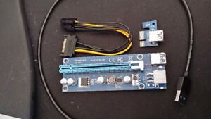Riser Extender board 80cm USB cable, + M.2 Risers