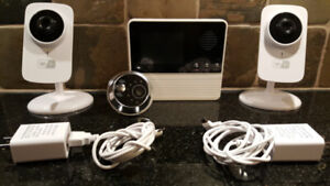 Wifi Security-2 cams + Video Screen Doorbell chime