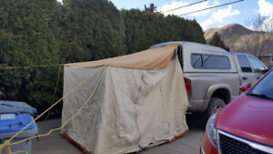 Canvas truck canopy tent