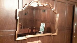 BEAUTIFUL LARGE SOLID WOOD FRAMED MIRRORS (2)