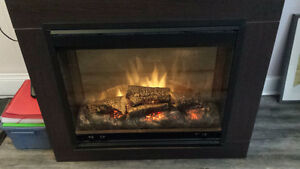 Stand up electric fireplace