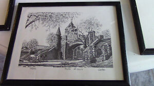Black and White Framed Sketches - Montreal and Quebec Kitchener / Waterloo Kitchener Area image 4
