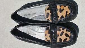 Anne Klein Leopard & Black Loafers