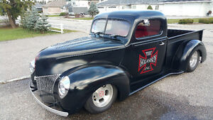 1940 BLOWN  ALL STEEL PICKUP HOT ROD - TRADES?