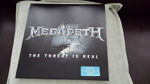 MEGADETH THE THREAT IS REAL VINYL ! BRAND NEW !