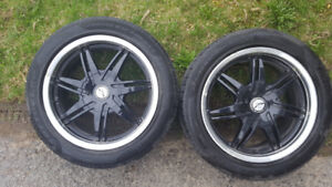 4 Rims with Winter Tires