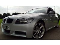 BMW 320 320d M SPORT TOURING Good / Bad Credit Car Finance (silver) 2008