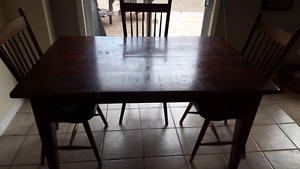 Distressed kitchen table