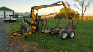 Trailer with M160 loader.  $11,000.00