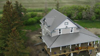 """Owners/contractors  1.5"""" standing seam panels - rolled on site"""
