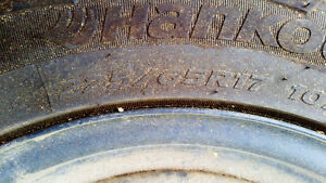 225 65 R17 Acura/Honda Rims with 2015 Hankook Radials Prince George British Columbia image 3