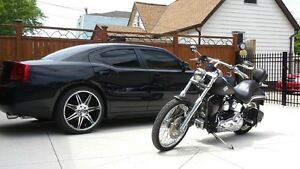 06 Dodge Charger, 04 Harley softail Deuce