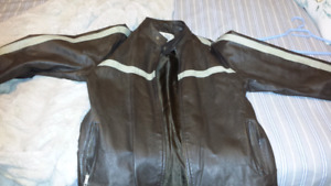 Mens medium leather coat