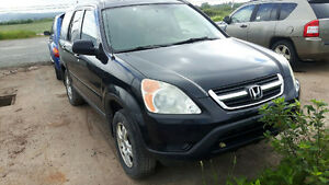 junking 2003 LEATHER LOADED HONDA CRV 2.4 AUTO