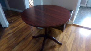 34 inch Round Wooden Table no chairs