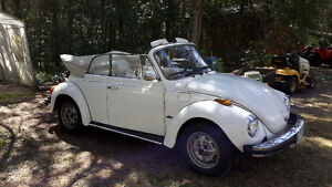 1978 VW Beetle Convertible - Triple Champagne White