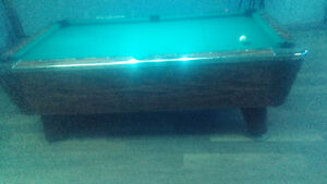 Valley coin pool table