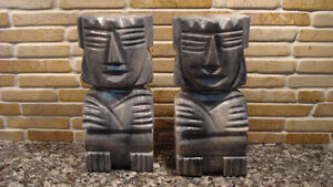 Gray Onyx Bookends