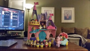 Fisher Price Musical Princess Castle and Little Mermaid Carriage