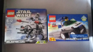 Lego star wars and city set for sale SEALED