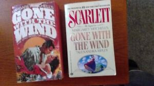 Gone with the Wind and Scarlett paperbacks