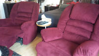 2 Great Condition Recliner and Rocker for sale