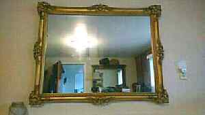 Vintage gold framed mirror approx 3'x4' $85 takes