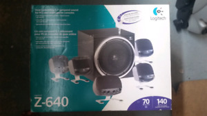 NIB - Logitech Z-640 5.1 Surround Sound Gaming Computer System