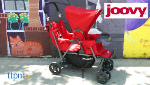 Joovy caboose ultralight SIT/Stand double stroller wit rear seat