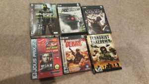 Tons of PC games for sale. 5$ each. Splinter cell, rainbow six.