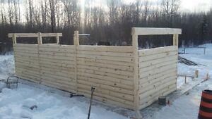 Log cabin/saddle&tack room.