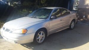 2004 Pontiac Grand Am Sedan with WINTER Tires