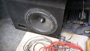 """12"""" Sub and Alpine Amp With Wiring"""