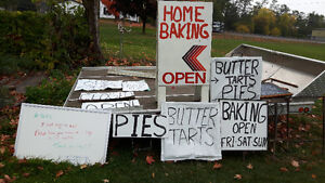 Advertising signs(bakery), sandwich board style, Peterborough Peterborough Area image 1
