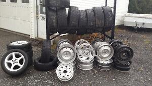 pneu usager  hiver 13 pouce a 20 pouce pose et balancer