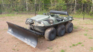 6x6 argo frontier with plow cover tracks lots of extras 2010 yr