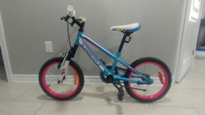"Girls Supercycle 2 wheel Bike 16""  Like New"