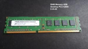 Assorted RAM memory for desktop