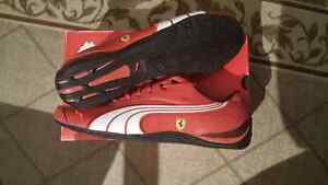 New Puma Ferrari Red Shoes size / taille 12 (leather/cuir)