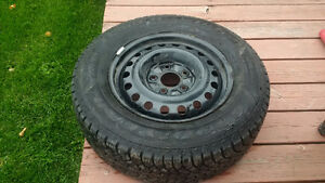 4 Nordic Winter Tires with Rims (Balanced) - GOODYEAR 225/65 R16