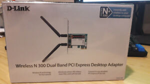 Wireless N300 Dual Band PCI Express Desktop Adapter