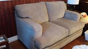 Light ,beige ,deep love seat less than 8 mnths old