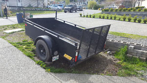Fairly new steel utility trailer for sale
