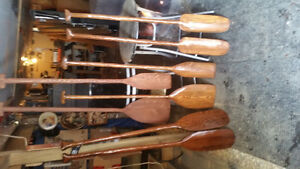 Hand carved and hewn paddles for sale call 226 567 6295