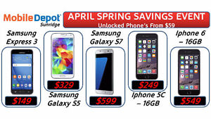 APRIL SAVINGS EVENT - 2 DAYS ONLY - SAMSUNG GALAXY S5 UNLOCKED