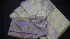 BRAND NEW Lavendar & Gold Pure Silk Saree - $200 OBO
