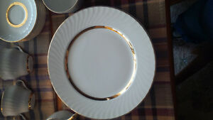 Barratts Golden Anniversary Dinnerware 22kt gold trim