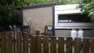Park model trailer on a leased lot at Aquadeo Beach Resort